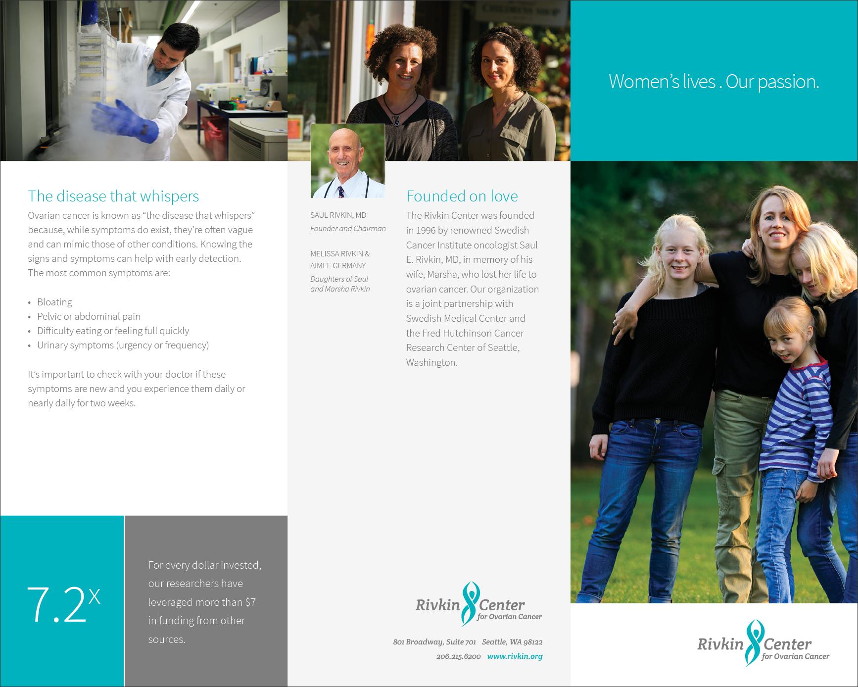 Rivkin Center Print Brochure Side 1